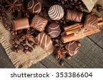 assortment of dark  white and... | Shutterstock . vector #353386604