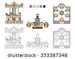 coloring book with a contour... | Shutterstock .eps vector #353387348