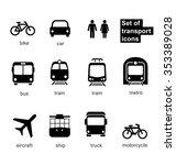 set transport icons on white... | Shutterstock .eps vector #353389028