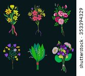 colorful  hand drawn bunch of... | Shutterstock .eps vector #353394329