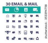 email  message  mail  icons ... | Shutterstock .eps vector #353394758