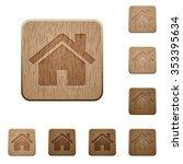 set of carved wooden home...