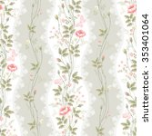 seamless floral pattern with... | Shutterstock .eps vector #353401064