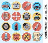 car parts and service | Shutterstock .eps vector #353403626