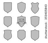 set of vector shield silhouette.... | Shutterstock .eps vector #353405843