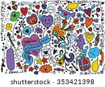 hand drawn vector illustration... | Shutterstock .eps vector #353421398