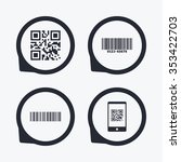 bar and qr code icons. scan... | Shutterstock . vector #353422703