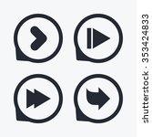 arrow icons. next navigation...   Shutterstock . vector #353424833