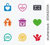 love  valentine day icons.... | Shutterstock . vector #353432534