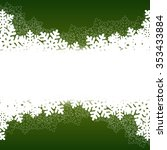 christmas green background with ... | Shutterstock .eps vector #353433884
