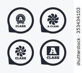a class award icon. a class...   Shutterstock . vector #353434103