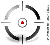 crosshair  cross hair  target... | Shutterstock .eps vector #353435618