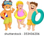 illustration of kids with toy... | Shutterstock . vector #353436206