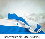 flag of honduras moved by the... | Shutterstock . vector #353438468