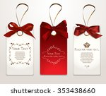 set of elegant cards with satin ... | Shutterstock .eps vector #353438660