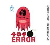 404 error illustration over... | Shutterstock .eps vector #353438804