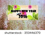 happy new year  signpost in... | Shutterstock . vector #353446370