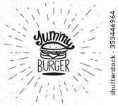 Yummy Burger Vintage Label In...