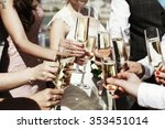 guests at a wedding with the... | Shutterstock . vector #353451014