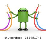 robot with cables   Shutterstock . vector #353451746