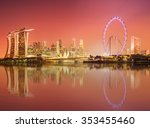 singapore skyline and view of... | Shutterstock . vector #353455460