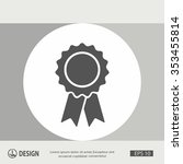 pictograph of award | Shutterstock .eps vector #353455814