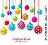 illustration new year bckground ... | Shutterstock .eps vector #353463044