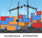transportation and containers... | Shutterstock .eps vector #353464550