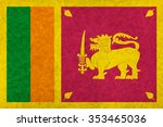 sri lanka national flag country ... | Shutterstock . vector #353465036