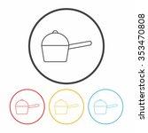pot line icon | Shutterstock .eps vector #353470808