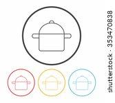 pot line icon | Shutterstock .eps vector #353470838