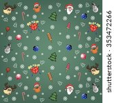 christmas background with santa ... | Shutterstock .eps vector #353472266