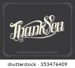 thank you hand drawn lettering... | Shutterstock .eps vector #353476409