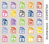 file types icon  vector art and ... | Shutterstock .eps vector #353490764