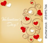 valentine's day card. hearts... | Shutterstock .eps vector #353491766