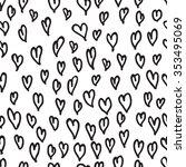 black and white seamless hand... | Shutterstock .eps vector #353495069