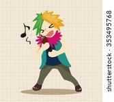 band member singer theme... | Shutterstock .eps vector #353495768