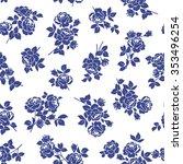 rose flower pattern  | Shutterstock .eps vector #353496254