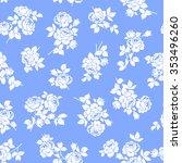 rose flower pattern  | Shutterstock .eps vector #353496260