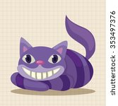 alice in wonderland theme... | Shutterstock .eps vector #353497376