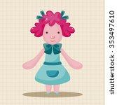 animal sheep waiter cartoon... | Shutterstock .eps vector #353497610