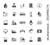 vector set black icons and... | Shutterstock .eps vector #353498174