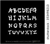 hand drawn alphabet   number... | Shutterstock .eps vector #353498213