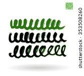 brush stroke and texture.... | Shutterstock .eps vector #353508260