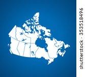 map of canada | Shutterstock .eps vector #353518496