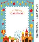 amusement park with decoration... | Shutterstock .eps vector #353519234