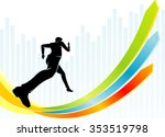fast uptrend business... | Shutterstock .eps vector #353519798