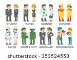 flat design people with... | Shutterstock .eps vector #353524553