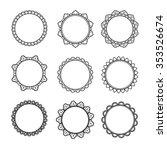 asian decorative frame... | Shutterstock .eps vector #353526674