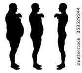 concept 3d fat overweight vs... | Shutterstock . vector #353529344